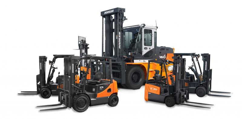 family shot forklifts